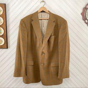 Nordstrom Vintage Plaid Wool Blazer Made In USA